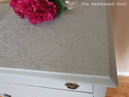 Nightstand Cover Use Paintable Wallpaper To Cover Ruined Furniture Tops Hometalk