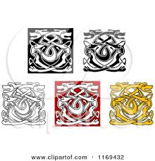 clipart of celtic wolf or designs 2 royalty free vector
