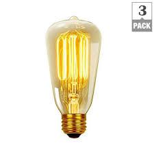 incandescent light bulb specifications globe electric 40 watt vintage edison s60 squirrel cage e26
