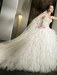 puffy wedding dresses