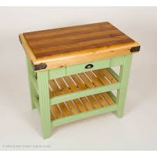 kitchen island or butchers block with hardwood and softwood