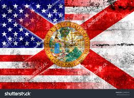 Floridas State Flag Usa Florida State Flag Painted On Stock Illustration 223482676