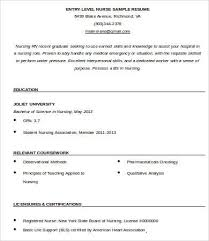 Dietitian Resume Sample by Entry Level Resume Template 9 Free Word Pdf Documents Download