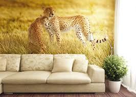 wall mural wallpaper nature wilderness animals cheetah safari wall mural wallpaper nature wilderness animals cheetah safari photo 360 cm x 270 cm 3 94 yd x 2 95 yd