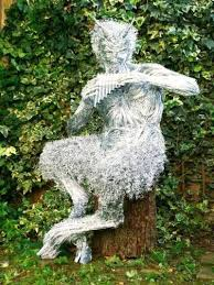 steel garden ornaments steel wire by foster titled the great god pan