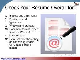 Resume Checklist Checklist To Proofread Your Resume
