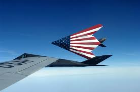 American Flag 1845 F 117a Stealth Fighter With An American Flag Painted On Its