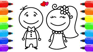 wedding groom and bride coloring pages and drawings for baby art