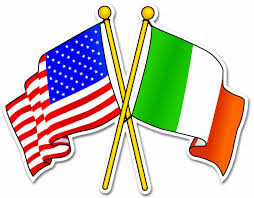What Are The Two Flags In The Oval Office Amazon Com Irish Usa Flags Ireland Car Bumper Sticker Decal