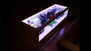 Gaming Coffee Table Rectangle Ultra Modern Glass Gaming Coffee Table With Led Lighting