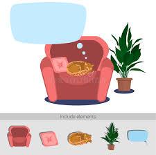 Sleeping Armchair Cat Sleeping In Armchair Stock Vector Image 67722836