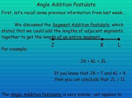 angle addition postulate presentation