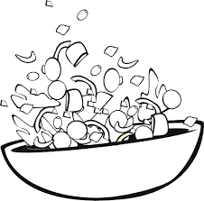 salad coloring pages 6 nice coloring pages for kids