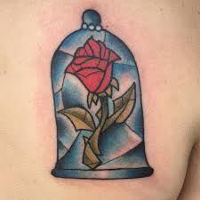 beauty and the beast rose tattoo venice tattoo art designs