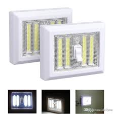 cob led wireless night light with switch discount portable led night light battery operated 4 cob led panels