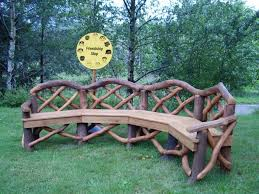 Rustic Outdoor Bench by Tips On How To Build Your Own Set Of Rustic Outdoor Furniture