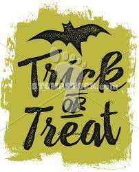 happy halloween trick or treat vintage clipart stompstock