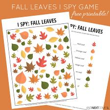 fall leaves i spy game free printable for kids spy games i