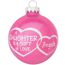 personalized daughter is a gift of love glass ornament family
