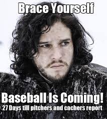 Brace Yourself Memes - brace yourself baseball is coming