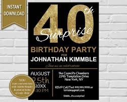 40th birthday invitation 40th birthday invite