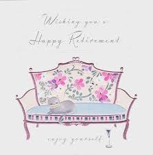 retirement card cat sofa happy retirement card karenza paperie