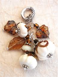 halloween jewelry crafts ivory pumpkin patch lampwork glass art beads pinterest