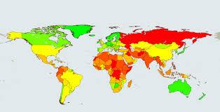 travel warnings images World map of travel warnings jpg