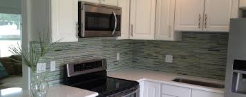Glass Mosaic Tile Kitchen Backsplash Ideas Decorating Reflections Hand Painted Linear Glass Mosaic Tiles As