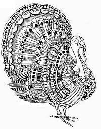 turkey thanksgiving coloring page for adults coloring home