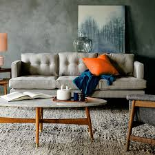 Mid Century Modern Leather Sofa Mid Century Modern Leather Sofa And Pillow All Furniture