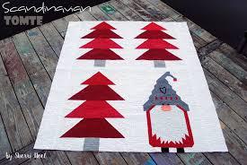 christmas quilt pattern scandinavian tomte