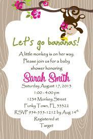 free printable sock monkey baby shower invitations templates