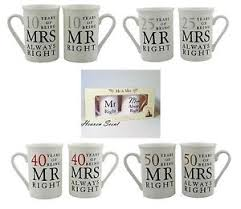 10th anniversary gift ideas mr right mrs always right mug wedding anniversary gift ideas 10th