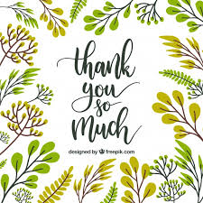 thank you card floral design vector free