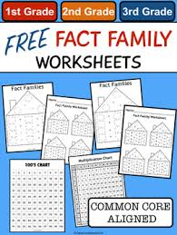 free fact family worksheets by carly and adam teachers pay teachers