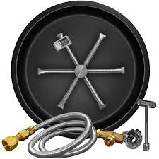 Fire Pit Burner by Firegear 29 Inch G90 Series Round Burning Spur Natural Gas Fire