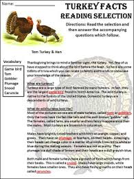 activities turkey facts thanksgiving science activity packet
