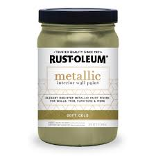 rust oleum 1 qt soft gold metallic paint 2 pack 320728 the