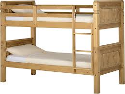 Corona  Bunk Bed In Distressed Waxed Pine Amazoncouk Kitchen - Solid pine bunk bed