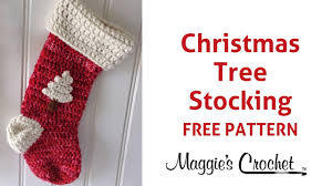 christmas stocking free crochet pattern right handed youtube