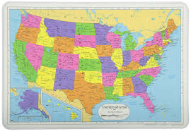 Ruskin Florida Map by Amazon Com Painless Learning Map Of Usa Placemat Home U0026 Kitchen