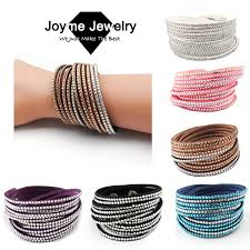 leather rhinestone bracelet images Crystal rhinestone bangle bracelet images jpg