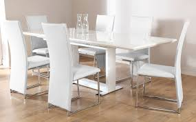 white dining room table extendable hudson white two tone round extending dining room table and 4