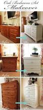 How To Mix Old And New Furniture Oak Bedroom Set Painted In Diy Chalk Paint Love The Difference