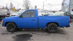 nissan blue truck 1992 nissan hard body truck sold youtube