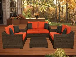 Red Patio Dining Sets - orange patio furniture officialkod com