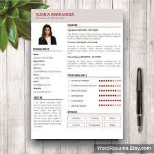 clean resume template cover letter word u2013 u201cjessica hernandes u201d