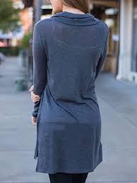 2017 autumn winter blue lapel long sleeve casual dress long in