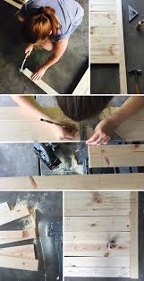how to make a diy rustic headboard